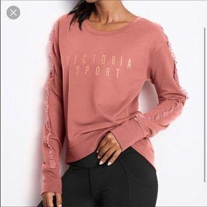 Victoria's Secret Tops - EUC Victoria Sport ruffle pullover